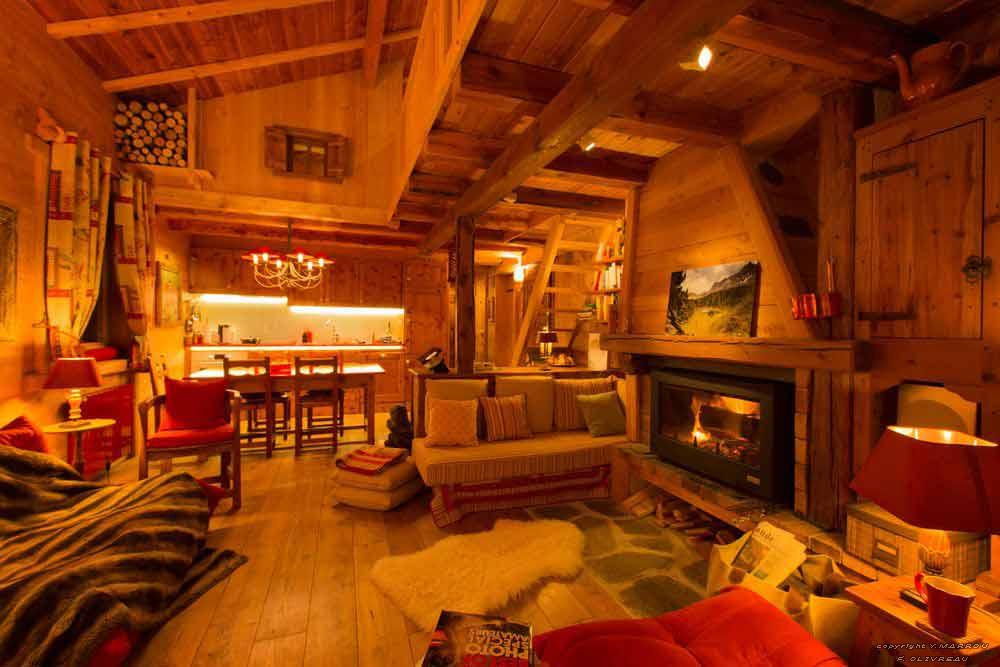 Am nagement complet d 39 un appartement dans un chalet for Deco interieur chalet montagne